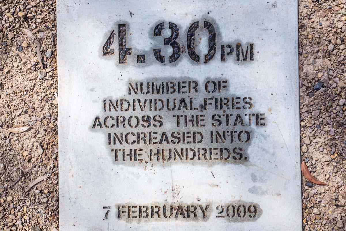 2009 Bushfire memorial in Toolangi Castella