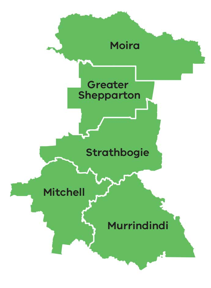Map of the Goulburn area of the Hume region