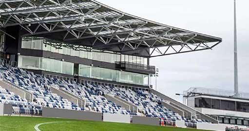 Eureka Stadium grandstand in Ballarat