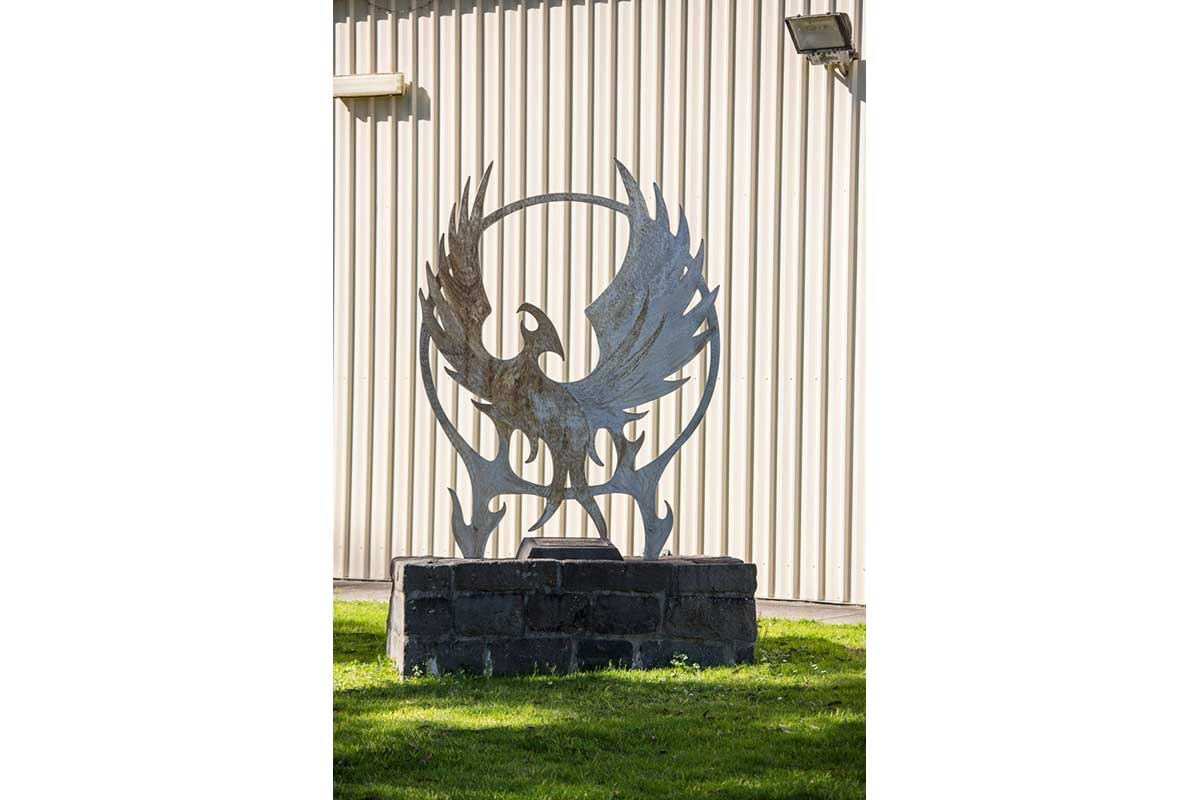 Latrobe City, Phoenix Rising Sculpture - Traralgon South Fire Station