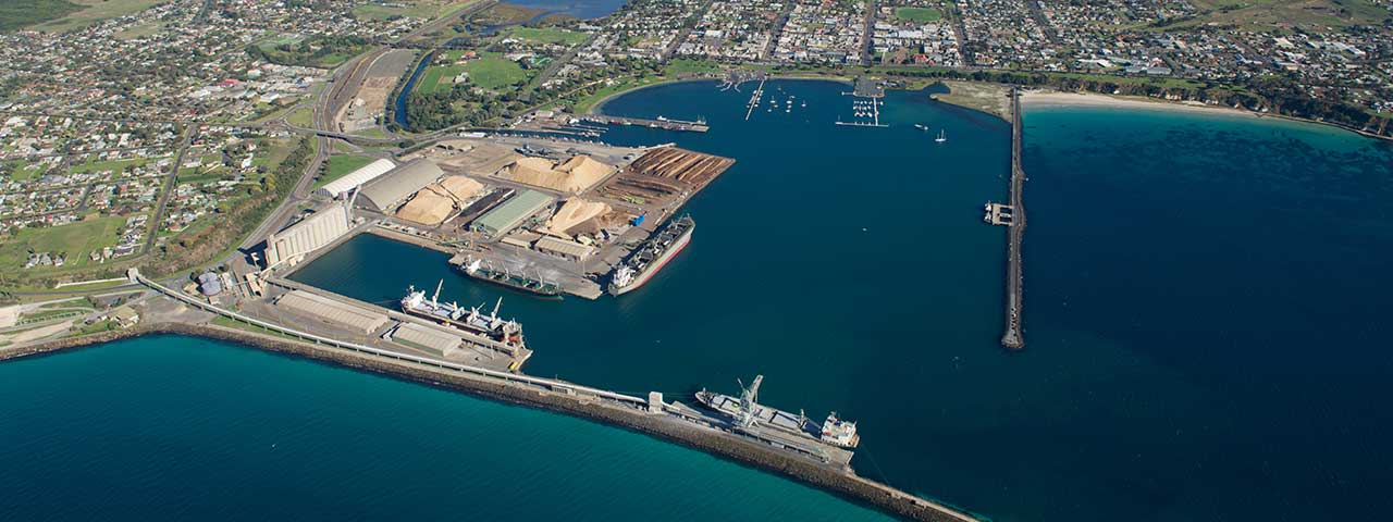 Aerial view of the Port of Portland