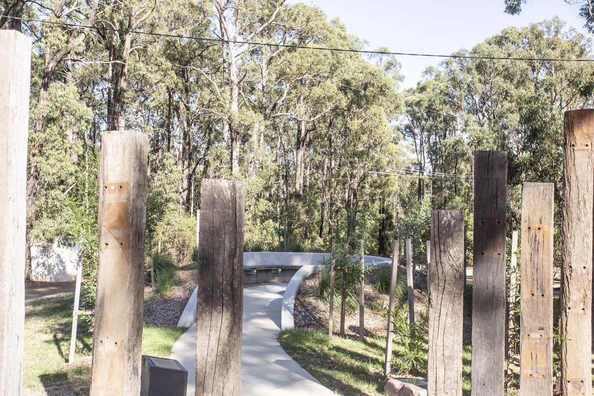 2009 Bushfire memorial in Kinglake West
