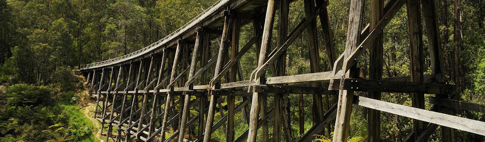 Wooden Trestle Bridge in West Gippsland