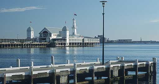 Geelong waterfront and pier