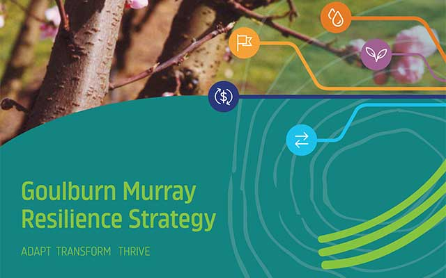 cover of the 2020 Goulburn Murray Resilience Strategy and Taskforce
