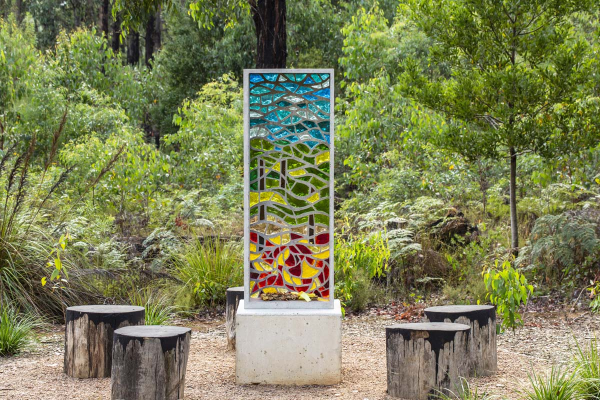 2009 Bushfire memorial in Toolangi Castella
