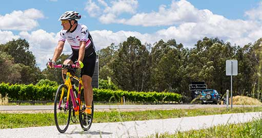 Cyclist in the Hume region