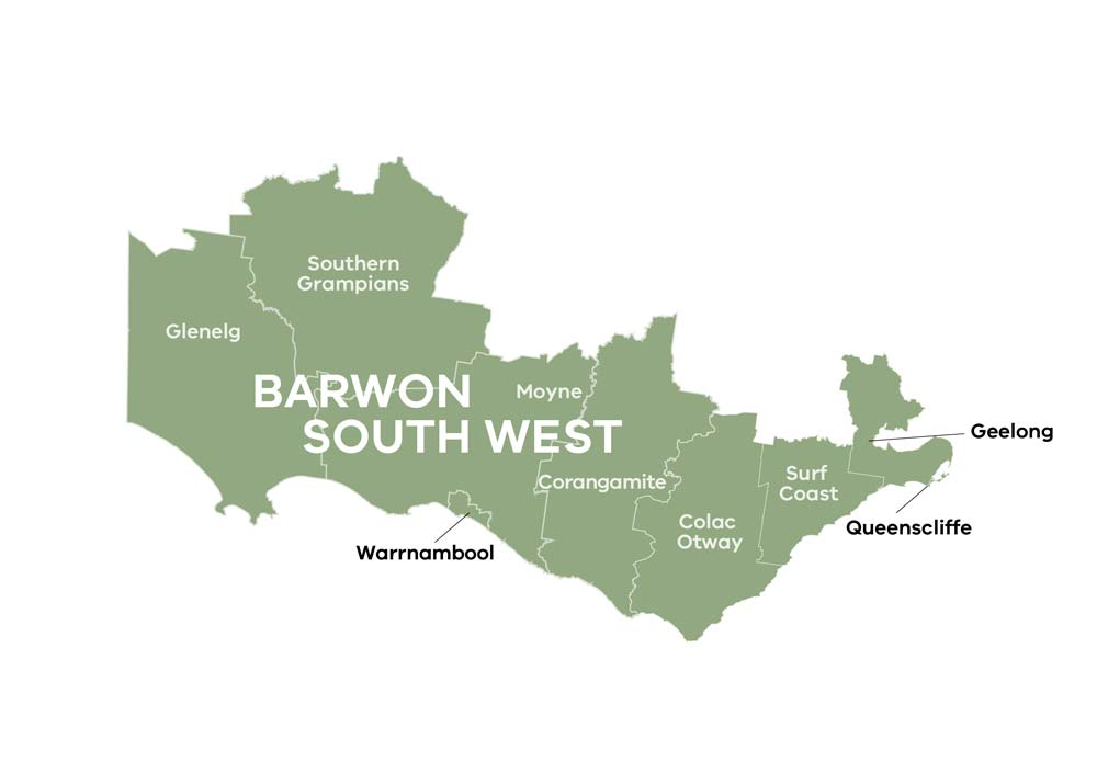 RDA Barwon South West region map