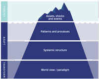 graphic showing the steps of resilience from transforming through adapting to persisting