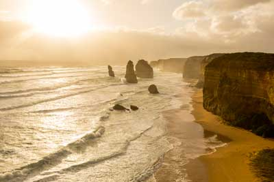 View along the Twelve Apostles